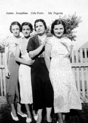 Jenny, Ida, Zula, and Josephine