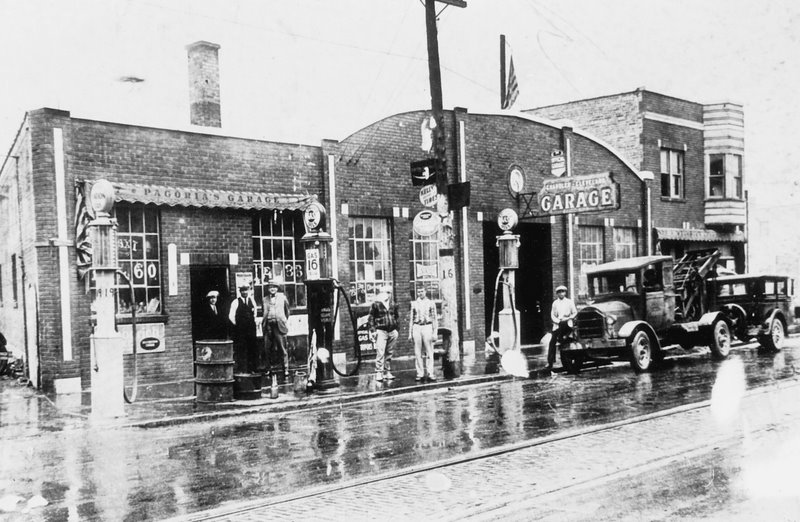 Pagoria's Garage in Chicago Heights - circa 1920