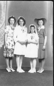 Nettie, Josephine Checkler, Frances (Chubby) Checkler, and Pauline (Adam Porto's wife).