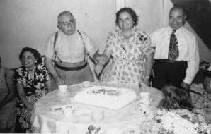 Vincent and Cecelia Pagoria (center of picture). George Porto is on the right. The picture was taken in 1953